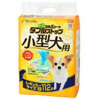 クリーンワン 消臭炭シート ダブルストップ 小型犬用 レギュラー 1袋(112枚) シーズイシハラ