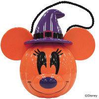 西本貿易 ハロウィン ミッキー&ミニー パンプキンビッグポット 紫 1個