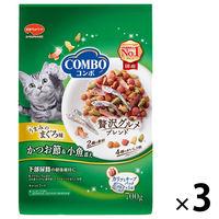COMBO(コンボ) キャットフード まぐろ味・かつおぶし 140g 1セット(3個) 日本ペットフード