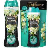【お得なセット】レノアハピネス アロマジュエル エメラルドブリーズの香り 本体(520ml)&詰め替え(455ml) 1セット P&G