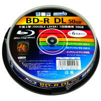HI DISC BD-R/DL ブルーレイディスク録画用6倍速50GB 2層 ダブルレイヤーホワイトプリンタブル HDBD-RDL6X10SP スピンドル10枚
