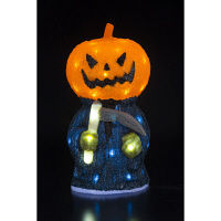 ハロウィン LEDクリスタルモチーフ パンプキンリーパー イルミネーション 高さ47cm 友愛玩具 (取寄品)