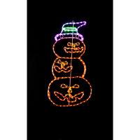 ハロウィン LEDチューブライト 3連パンプキン イルミネーション 高さ60cm 友愛玩具 (取寄品)