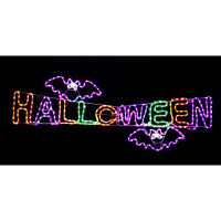 ハロウィン LEDチューブライト HALLOWEEN(ハロウィン)タイトル イルミネーション 横幅160cm 友愛玩具 (取寄品)