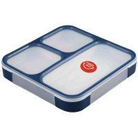 薄型弁当箱 フードマン 1段 800ml ネイビー 1個 シービージャパン
