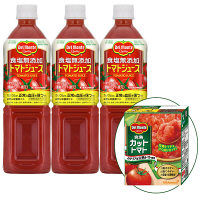食塩無添加トマトジュース+カットトマト