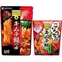 【限定セット】ミツカン 〆まで美味しいキムチ鍋つゆストレート+こなべっちキムチ鍋つゆ