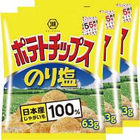 コイケヤ(湖池屋) ポテトチップス のり塩 1セット(3袋入)