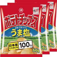 コイケヤ ポテトチップス うま塩 3袋