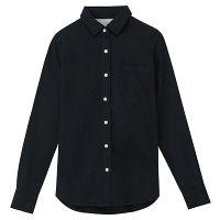 無印 フランネルシャツ 婦人 L 紺