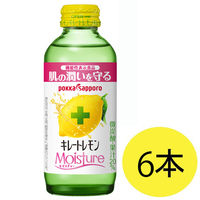 キレートレモンモイスチャー 155mL 1セット(6本) ポッカサッポロ 【機能性表示食品】