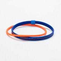アンクレットS スラッシュラメ ネイビー/オレンジ 23cm 1個 ファイテン