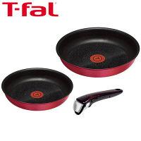 T-fal(ティファール) インジニオ・ネオ IHルビー・エクセレンス 3点セット(鍋 フライパン 取ってのとれるタイプ) IH対応 1個