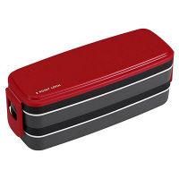 ランチボックス 並盛さんのお弁当箱 2段 850ml レッド 1個 OSK