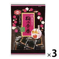 亀田製菓 梅の香巻 16枚 3袋