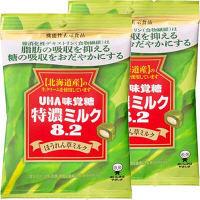 味覚糖 機能性表示食品 特濃ミルク8.2 ほうれん草ミルク 1セット(2袋入)