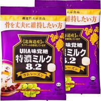 味覚糖 機能性表示食品 特濃ミルク8.2 ラムレーズン 1セット(2袋入)