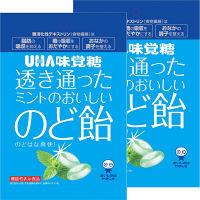 味覚糖 機能性表示食品 透き通ったミントのおいしいのど飴 1セット(2袋入)