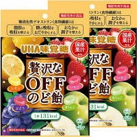 味覚糖 機能性表示食品 贅沢なOFFのど飴 1セット(2袋入)