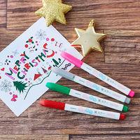 ふんわり筆カラー4色セット ロハコ限定 クリスマスぬりえ付 WFSS7-4C-AS02 ゼブラ