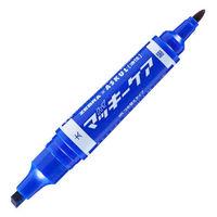 ハイマッキーケア 太字/細字 詰め替えタイプ(アスクル限定モデル) 青 油性ペン ゼブラ