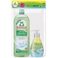 【数量限定】フロッシュ 食器用洗剤 アロエヴェラ つめかえ 750ml+デザインポンプボトル付