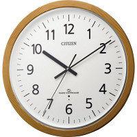 【アウトレット】シチズン 高精度大型サイズ木枠電波時計:スリーウエイブM840 径400mm 1個 4MY840-006