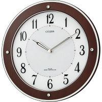 シチズン ソーラー電波木枠掛時計