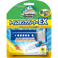 スクラビングバブル トイレスタンプクリーナーEX リフレッシュシトラスの香り 本体 ハンドル+付替え 1本 6スタンプ分 ジョンソン