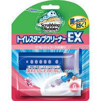 スクラビングバブル トイレスタンプクリーナーEX リフレッシュブーケの香り 本体 ハンドル+付替え 1本 6スタンプ分 ジョンソン