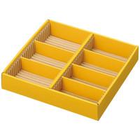 アスクル 引き出し整理ボックス 薄型 中 1セット5個:1個5