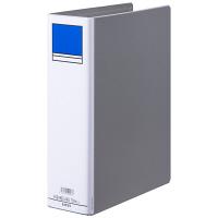 アスクル パイプ式ファイル 両開き ベーシックカラースーパー(2穴)A4タテ とじ厚70mm背幅86mm グレー 10冊