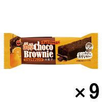 ブルボン 濃厚チョコブラウニーショコラオレンジ 1セット(9個入)