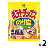 コイケヤ(湖池屋) お徳用ポテトチップスのり塩 126g 1セット(2袋入)