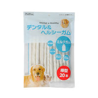 ペットプロ ドッグフード デンタル&ヘルシーガム ミルクガム 棒型 1袋(20本入) ペットプロジャパン