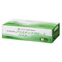 太陽マーク サンマテリアルプラスチックグローブパウダーフリー M 1箱(100枚入) (使い捨て手袋)