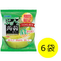 ぷるんと蒟蒻ゼリーパウチ メロン6袋