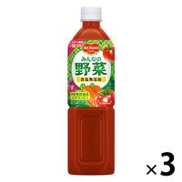 キッコーマン飲料 デルモンテ みんなの野菜 900g 1セット(3本)