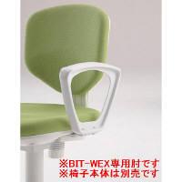 アイリスチトセ OAチェア BITシリーズ ホワイトシェル スタンダードタイプ専用肘 (直送品)