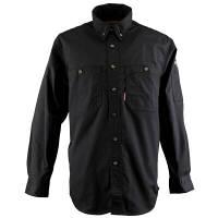 カジメイク ボタンダウンシャツ ブラック L (取寄品)