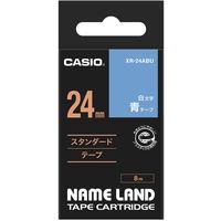 カシオ ネームランドテープ 24mm 青テープ(白文字) 1個 XR-24ABU