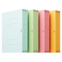 アスクル フラットファイル A4タテ 4色アソート エコノミータイプ 48冊(4色X12冊)
