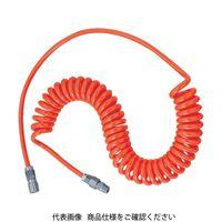 トラスコ中山 TRUSCO ウレタンコイルホース 4.0m オレンジ UCH5 1セット(1本入) 104ー2271 (直送品)