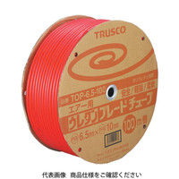 トラスコ中山(TRUSCO) ウレタンブレードチューブ 8.5X12.5 100m 赤 TOP-8.5-100 1巻 104-3188 (直送品)