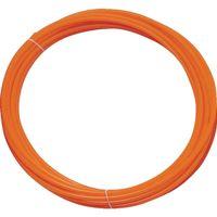 トラスコ中山(TRUSCO) ポリウレタンチューブ 4X2.5mm 10m巻 オレンジ TEN-4X2.5-10 O 1巻 231-7435 (直送品)