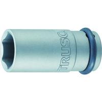 トラスコ中山(TRUSCO) インパクト用ロングソケット(差込角9.5)対辺17mm T3-17AL 1個 389-8300 (直送品)