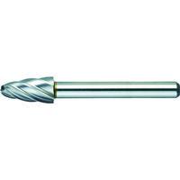 トラスコ中山 TRUSCO 超硬バー 砲弾型 Φ9.5X刃長19X軸6 アルミカット TA3C095 1本 384ー0905 (直送品)