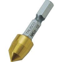 トラスコ中山(TRUSCO) 六角軸ナイスメンG 1枚刃 10mm チタンコーティング NMG6-10 1本 391-1641 (直送品)