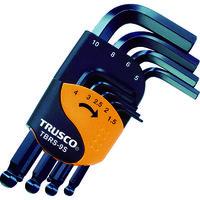 トラスコ中山 TRUSCO ボールポイント六角棒レンチセット ショートタイプ 9本組 TBRS9S  389ー5998 (直送品)