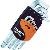トラスコ中山 TRUSCO ボールポイント六角棒レンチ首下ショート 9本組 TBKS9S 1セット 389-6901 (直送品)